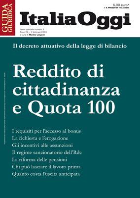 REDDITO DI CITTADINANZA E QUOTA 100